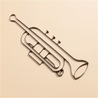 Trumpet Metal Wall Art at The Music Stand