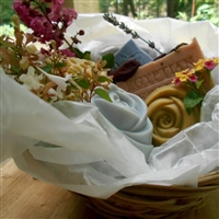 Holiday Handmade Artisan -Collection Soap Gift Basket (Five Piece)