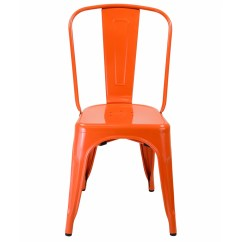 Neon Pink Chair Brown Leather Chairs For Living Room Bastille Marais Side Orange The Khazana Home Austin In Galvanized Steel