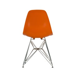 Orange Side Chair Glider Swivel Mechanism Charles Eames Dsr Style The Khazana Home Austin