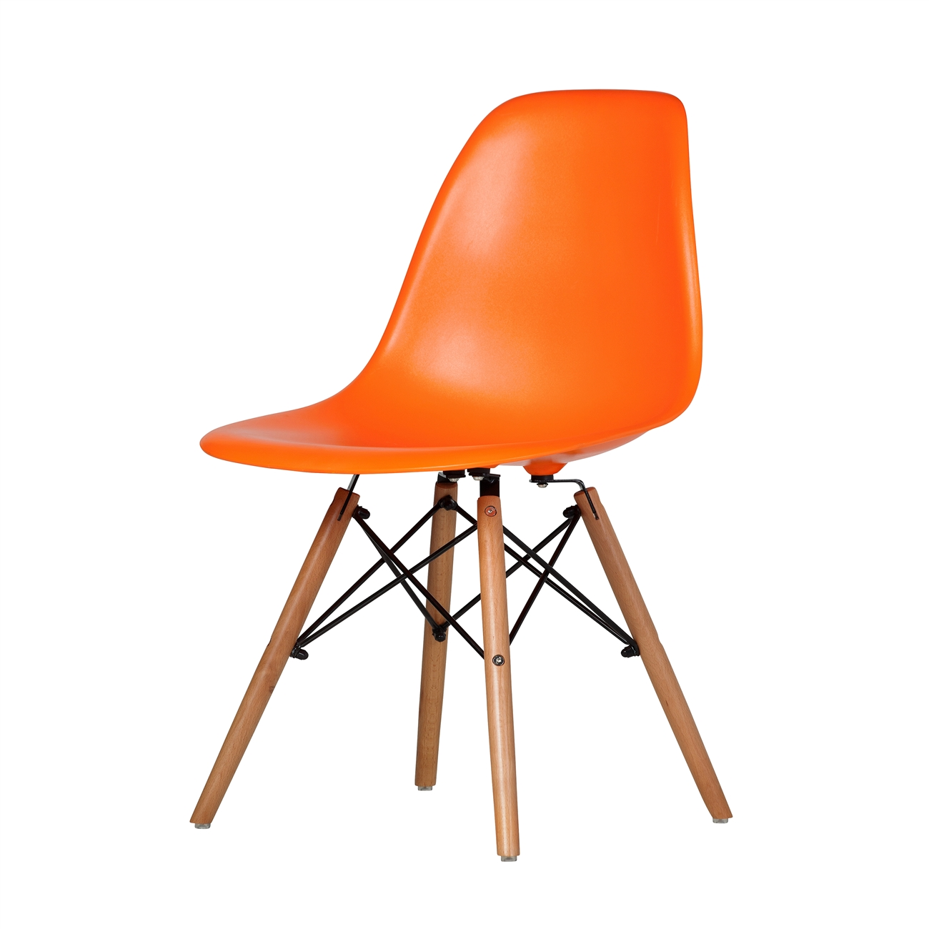 orange side chair wedding white covers charles eames dsw mid century modern plastic larger photo email a friend