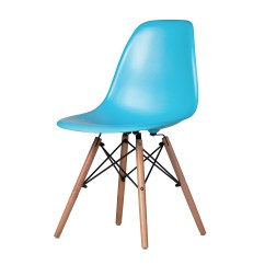 Eames Style Plastic Chair Dining Table Chairs In Blue Dowel Legs The Khazana Home Austin Larger Photo Email A Friend