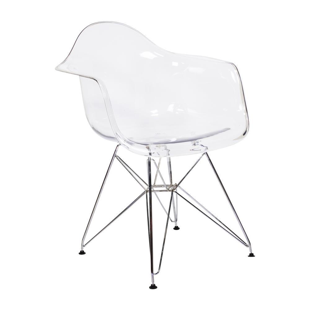 eames arm chair plastic beach chaise lounge chairs kitchen clear the khazana home austin furniture larger photo email a friend