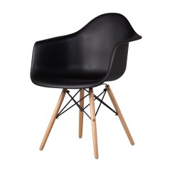 Eames Arm Chair Folding Chairs On Sale Kitchen In Black The Khazana Home Austin Furniture Store