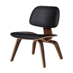Lounge Chair Leather Wooden Skull Molded Plywood In Black The Khazana Home Austin Furniture Store