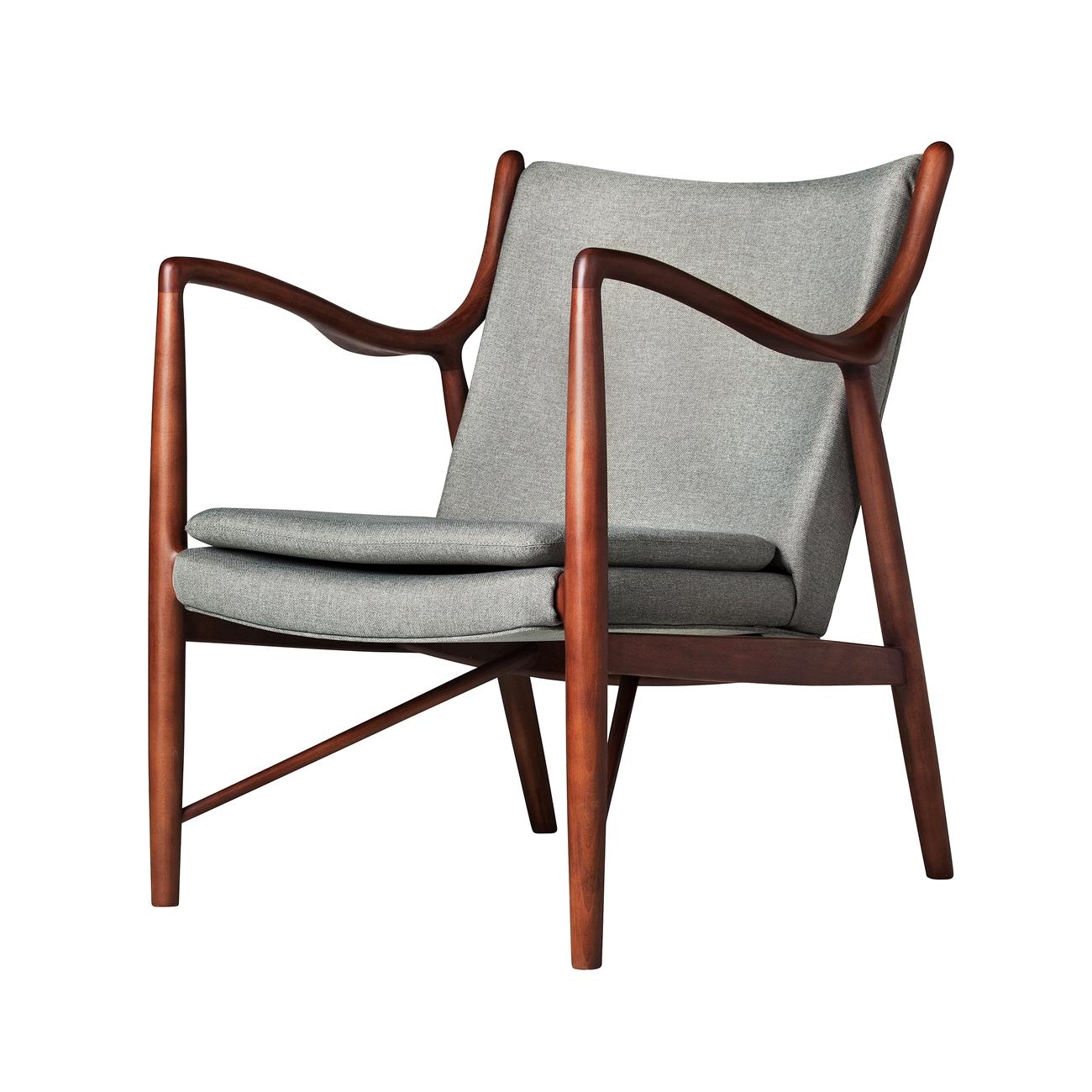 light grey chair charleston and a half finn juhl style 45 dark the khazana home furniture store