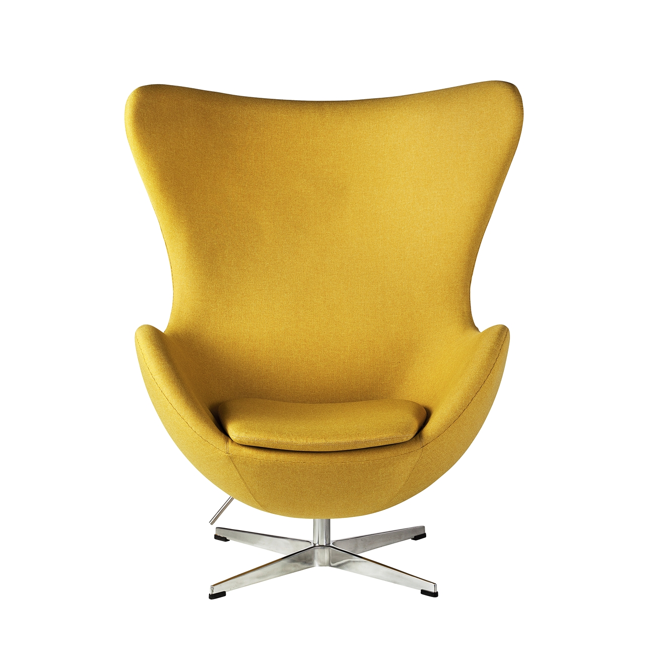Yellow Egg Chair Arne Jacobsen Inspired Egg Swivel Chair In Yellow The