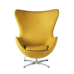 Yellow Office Chair T Cushion Slipcovers Arne Jacobsen Inspired Egg Swivel In The Khazana Home