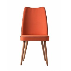 Orange Upholstered Chair How Are Chairs Made Albina Dining In The Khazana Home Austin