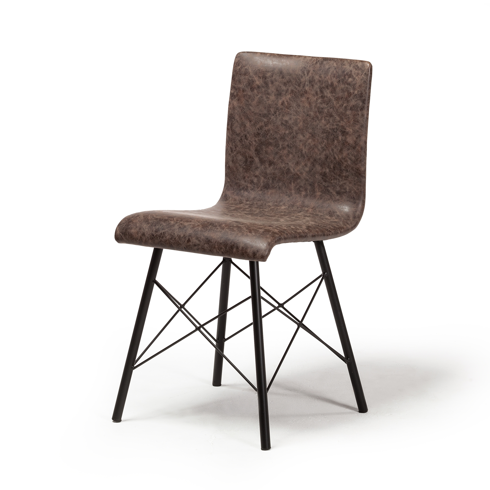 distressed dining chairs revolving chair barber shop davis in brown leather the khazana home