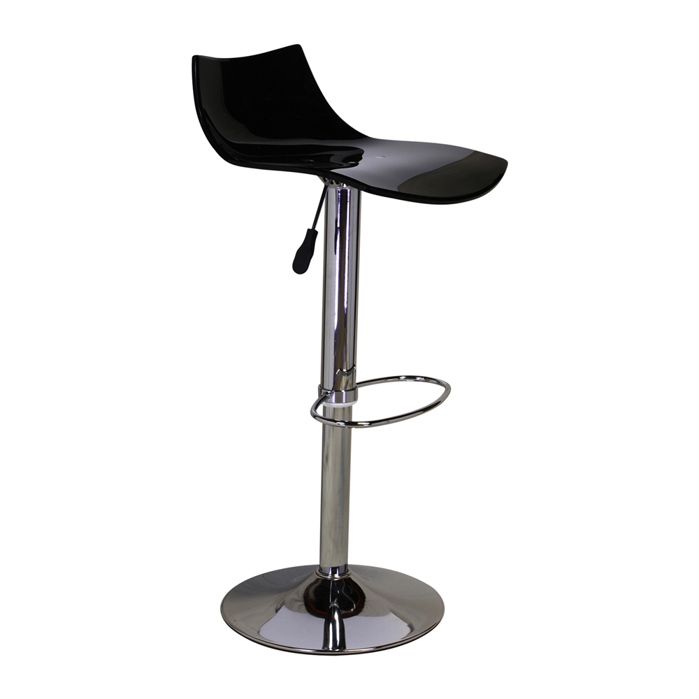 stool chair adjustable tell city chairs mahogany 27 black lucite seat swivel bar the khazana home