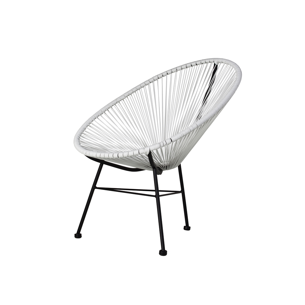 White Outdoor Lounge Chair Acapulco Lounge Chair In White