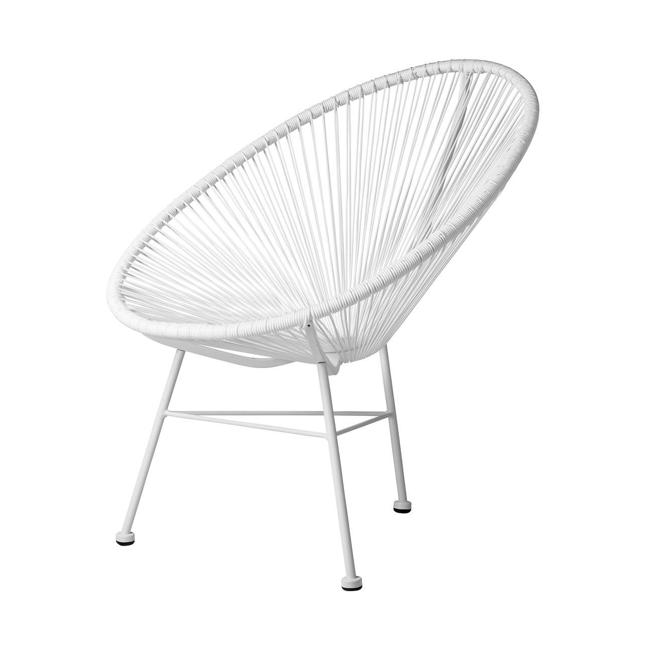 White Outdoor Lounge Chair Acapulco Lounge Chair In White The Khazana Home Austin Furniture Store
