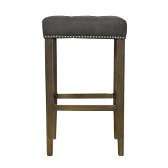 Bar Stool Chair Grey Ivory Spandex Covers For Sale Ash In Frost The Khazana Home Austin Furniture Store