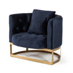 Navy Blue Chair With Ottoman Designs For Living Room Bach Occasional In Velvet