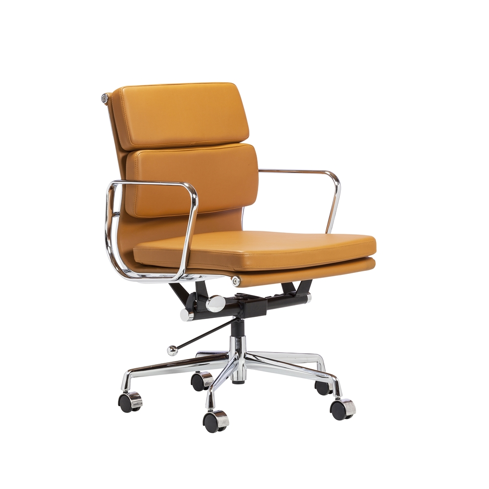 eames aluminum management chair replica folding floor canada group in orange the khazana home larger photo email a friend