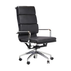 Black Leather Office Chair High Back Swing Cane Executive In The Khazana Home Austin Furniture Store