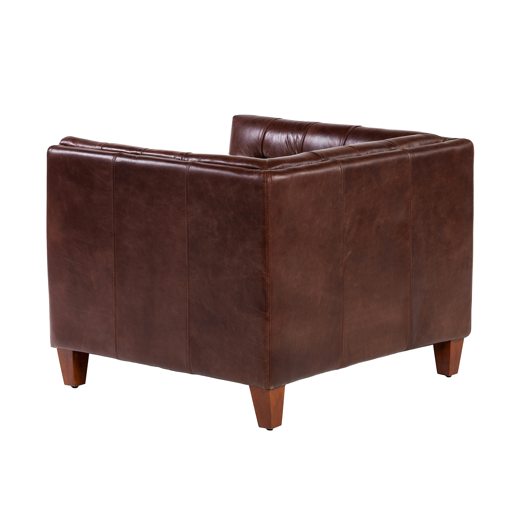 Brown Leather Chairs Cape Town Club Chair In Antique Brown Leather The Khazana Home Furnishings