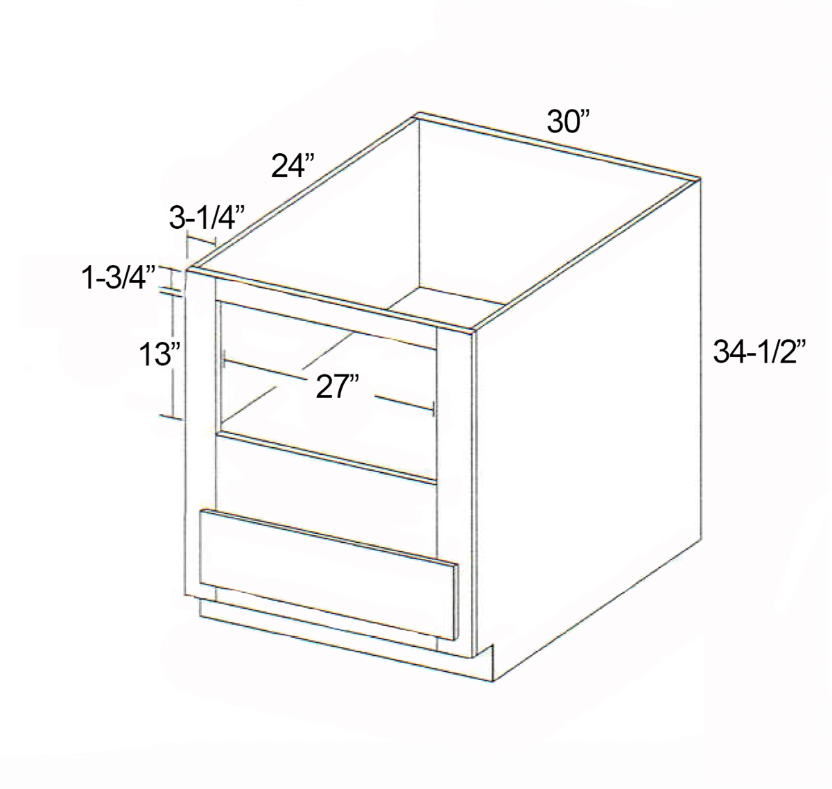 parkview cabinets 30 w x 34 1 2 h x 24 d rta base microwave cabinet