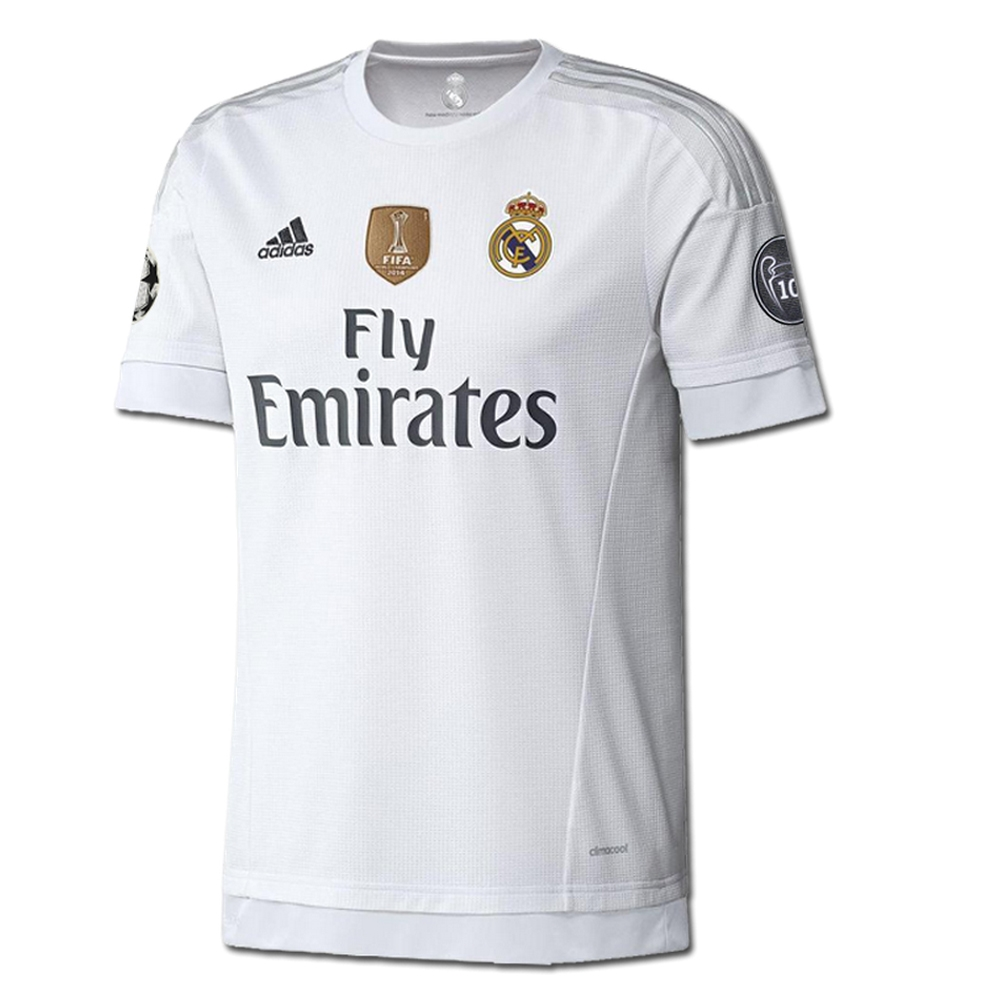 Real Madrid Ucl Home Youth 15 16 Replica Soccer Jersey