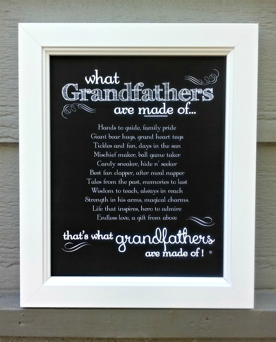grandfather frame grandfathers made