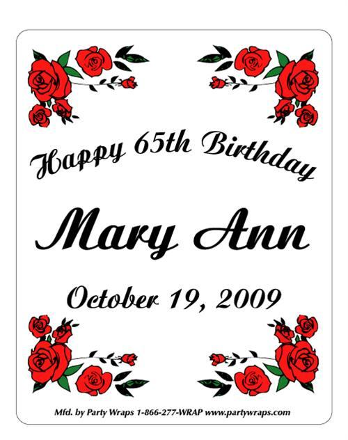 birthday rose border label