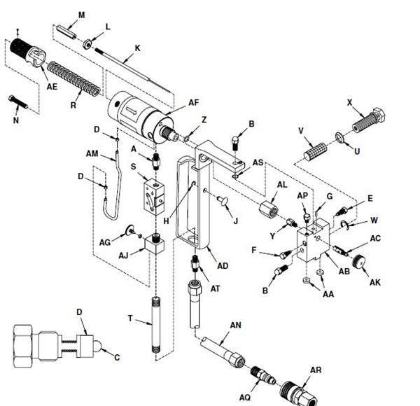 Gusmer Graco D gun and Gama Star gun parts