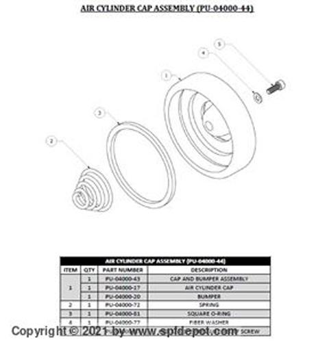 Air Motor Cap/Spring Kit for GAMA Transfer pump