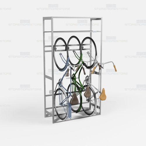 freestanding vertical bike rack
