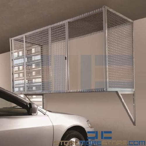 Over Car Bonnet Storage Condo Parking Garage Wire Mesh Locker Apartment