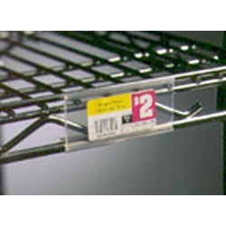 43 clear plastic label holders for standard shelving fits 48 shelf length sms 69 a208752