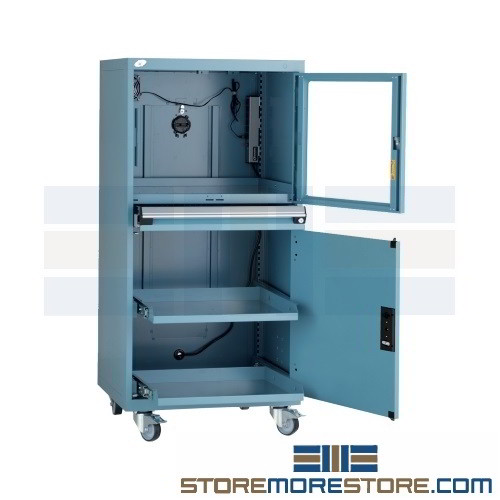 Rolling Dust Proof Computer Cabinet Locking