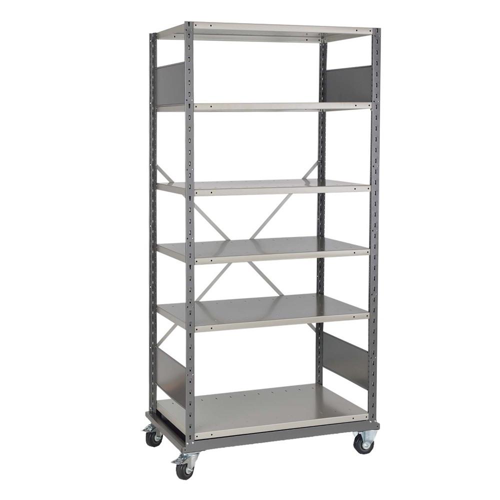 rolling storage shelves 4 w x 2 d x 5 10 h sms 81 shd4008m