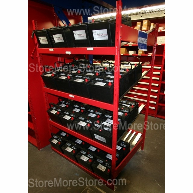 battery storage racks with welded upright assemblies 48 wide x 36 deep x 75 high sms 81 srp0460