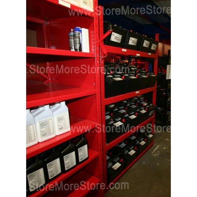 Battery Display Storage Rack With Slanted Battery Shelves  HeavyDuty Battery Shelving SRP0463