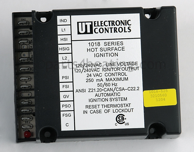 hot water heater wiring diagram obd0 to obd2 distributor parts4heating.com: united technologies 1018-525 ignition control, surface