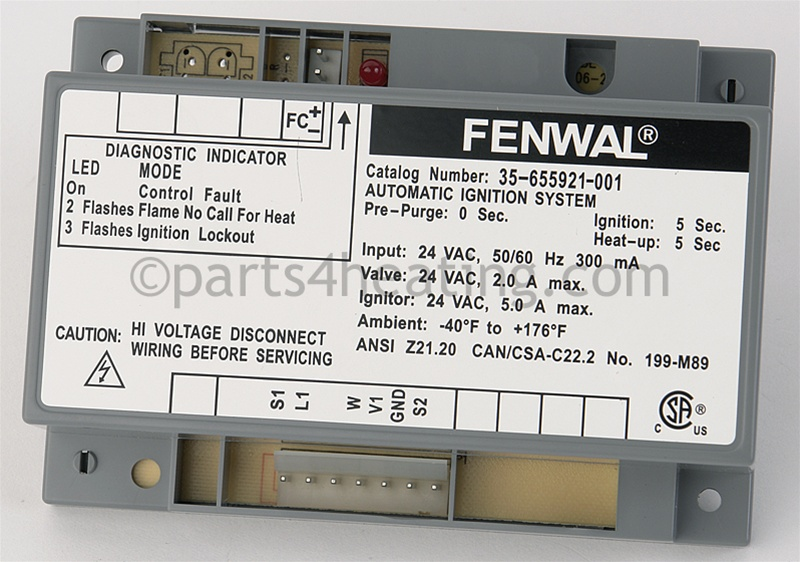 Parts4heating: Fenwal 35655921001 Ignitor Control 24