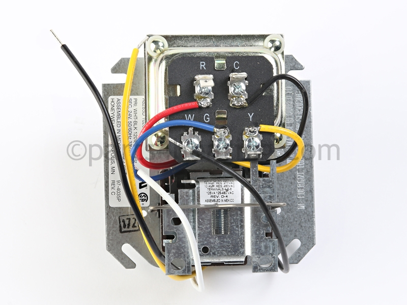 honeywell r8285d wiring diagram elan volume control 1026 center 40 va trans parts4heating com larger photo