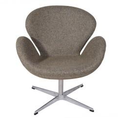Arne Jacobsen Swan Chair Grey Slipper In Oatmeal