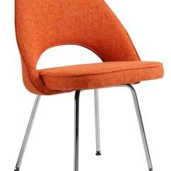 Orange Side Chair Zero Gravity Outdoor Chairs Eero Saarinen Style Executive In Www Hamptonmodern Com