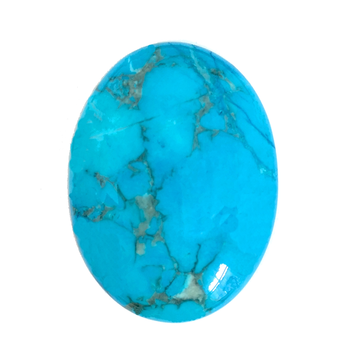 turquoise dyed howlite semi