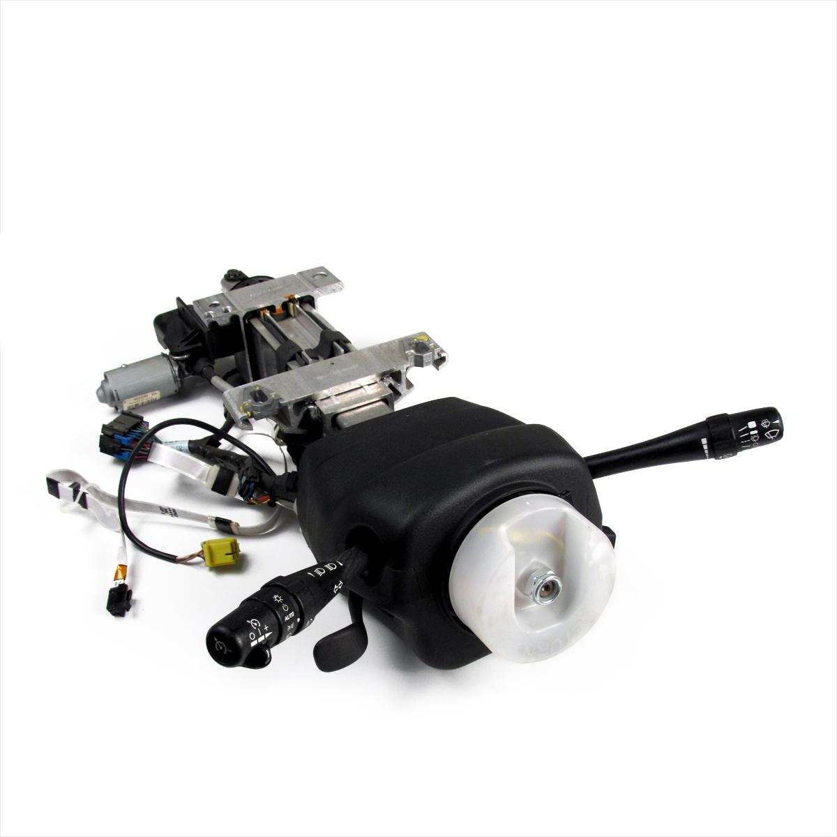 hight resolution of manual tilt power telescoping steering column assembly in black ebony gm part nos