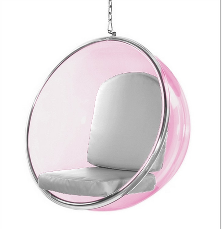 eero aarnio bubble chair and half rocker recliner style hanging pink acrylic silver cushion larger photo email a friend