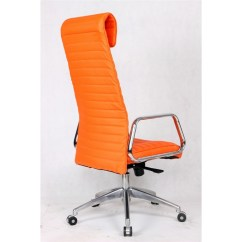 Orange Office Chair Swivel Malaysia Fine Mod Imports Ox High Back Leatherette In