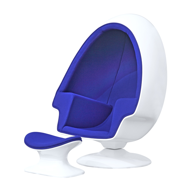 office chair with ottoman desk and storage bin fine mod imports alpha egg in blue wool