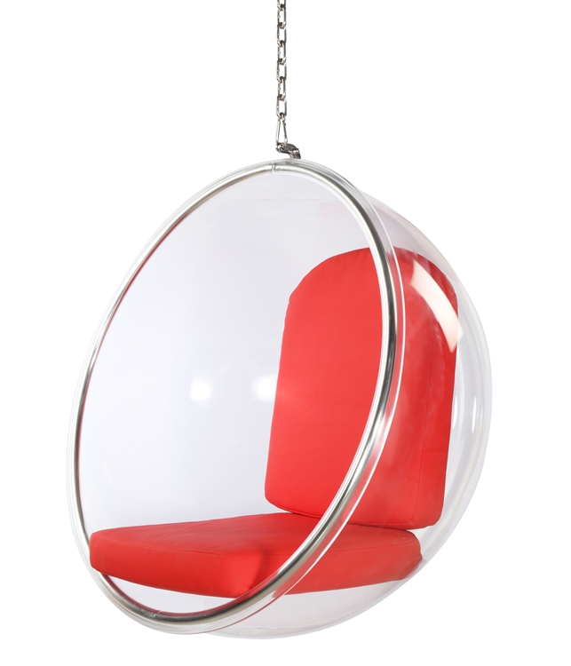 eero aarnio bubble chair best gaming computer chairs style hanging red cushion fine mod imports