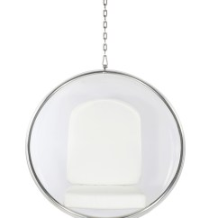 Hanging Chair Cheap Oval Table And 4 Chairs Eero Aarnio Style Bubble White Cushion Our Price 579 00