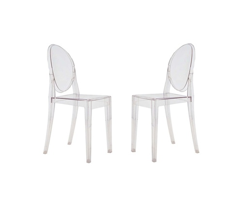 ghost chairs computer for sale fine mod imports philippe starck style victoria set of 2