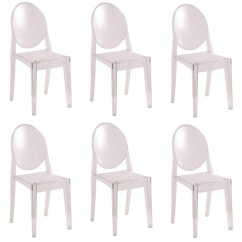 Ghost Chairs Folding Chair Rack Wall Fine Mod Imports Philippe Starck Style Victoria Set Of 6