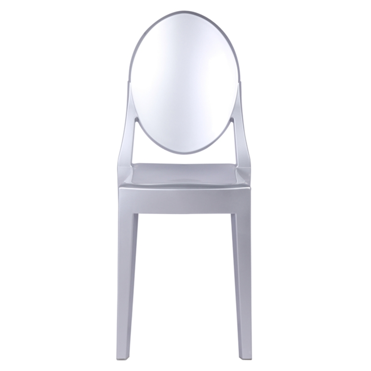 victoria ghost chair with cooler fine mod imports philippe starck style silver